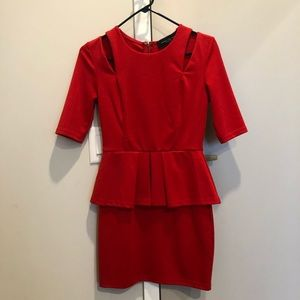 Red dress for work or dress up for a Friday din!